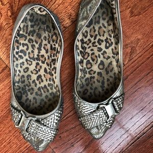 Silver flats, size 8.5